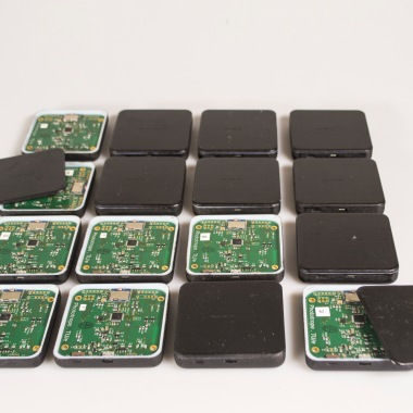 All of the custom circuit boards with casings